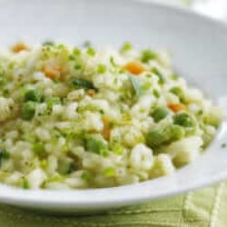 Recette du risotto de brie aux petits légumes